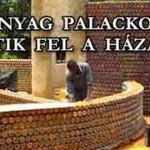 MŰANYAG PALACKOKBÓL ÉPÍTIK FEL A HÁZAIKAT