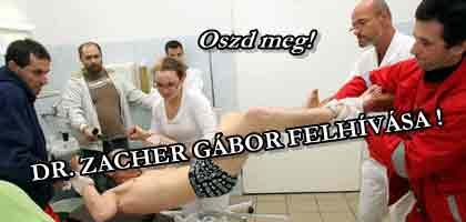 DR. ZACHER GÁBOR FELHÍVÁSA!