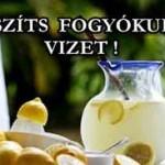 KÉSZÍTS FOGYÓKÚRÁS VIZET!