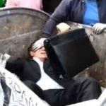 SZEMÉTTÁROLÓBA DOBTAK EGY UKRÁN POLITIKUST - VIDEÓ
