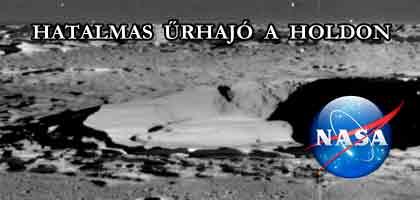 HATALMAS ŰRHAJÓ A HOLDON-NASA FELVÉTEL.