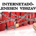 INTERNETADÓ-IDEIGLENESEN VISSZAVONVA!