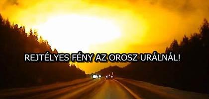 REJTÉLYES FÉNY AZ OROSZ URÁLNÁL!