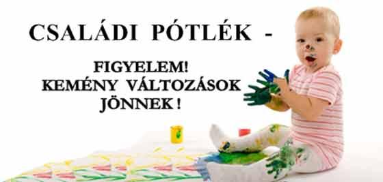 Image result for családi pótlék