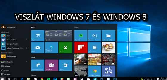 VISZLÁT WINDOWS 7 ÉS WINDOWS 8
