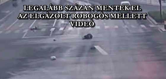 LEGALÁBB SZÁZAN MENTEK EL AZ ELGÁZOLT ROBOGÓS MELLETT - VIDEÓ