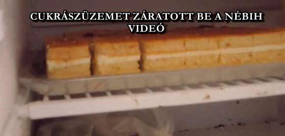 CUKRÁSZÜZEMET ZÁRATOTT BE A NÉBIH - VIDEÓ
