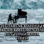OLVADÓ JÉGTÁBLÁK KÖZÖTT JÁTSZOTT A SARKVIDÉK MEGMENTÉSÉÉRT EGY ZONGORISTA - VIDEÓ
