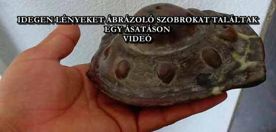 IDEGEN LÉNYEKET ÁBRÁZOLÓ SZOBROKAT TALÁLTAK EGY ÁSATÁSON - VIDEÓ