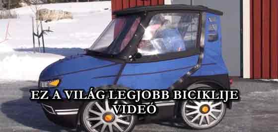 EZ A VILÁG LEGJOBB BICIKLIJE - VIDEÓ