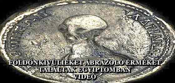 FÖLDÖNKÍVÜLIEKET ÁBRÁZOLÓ ÉRMÉKET TALÁLTAK EGYIPTOMBAN - VIDEÓ
