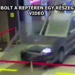 AUTÓVAL ROMBOLT A REPTÉREN EGY RÉSZEG OROSZ FÉRFI – VIDEÓ