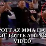 KIKAPOTT AZ MMA HARCOS, MAJD KIÜTÖTTE A RINGLÁNYT – VIDEÓ
