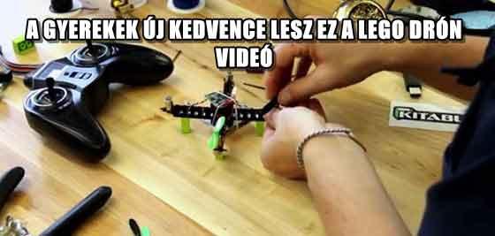 A GYEREKEK ÚJ KEDVENCE LESZ EZ A LEGO DRÓN - VIDEÓ