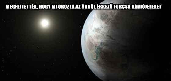 MEGFEJTETTÉK, HOGY MI OKOZTA AZ ŰRBŐL ÉRKEZŐ FURCSA RÁDIÓJELEKET