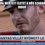 MŰANYAG VILLÁVAL MENTETT ÉLETET A HŐS SZABADNAPOS RENDŐR - VIDEÓ