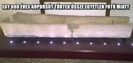 EGY 800 ÉVES KOPORSÓT TÖRTEK ÖSSZE EGYETLEN FOTÓ MIATT